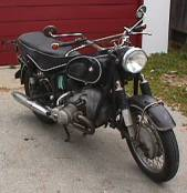 1965 R69S BMW motorcycle